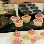 A pastry bags works to fill cupcakes and to decorate.