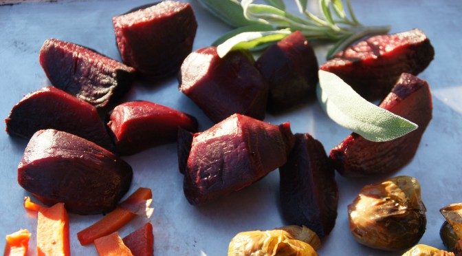 Roasted Root Vegetables with Crystallized Ginger