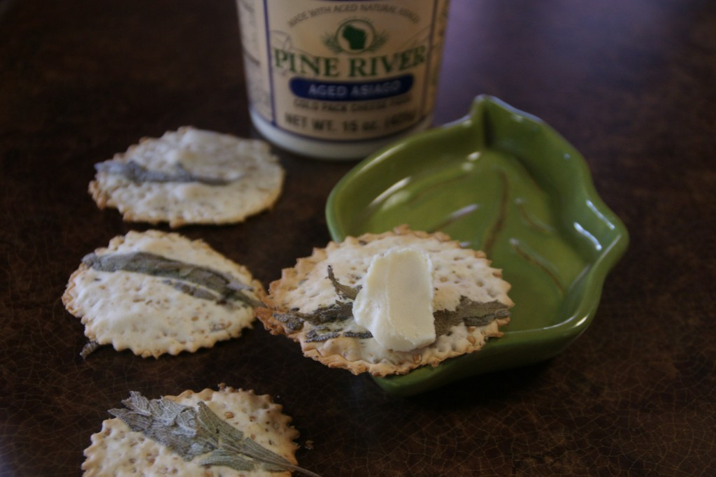 Pine River Asiago cheese spread is available at the Gibbsville Cheese Factory.