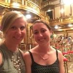 Andria and Sarah at the orchestra.