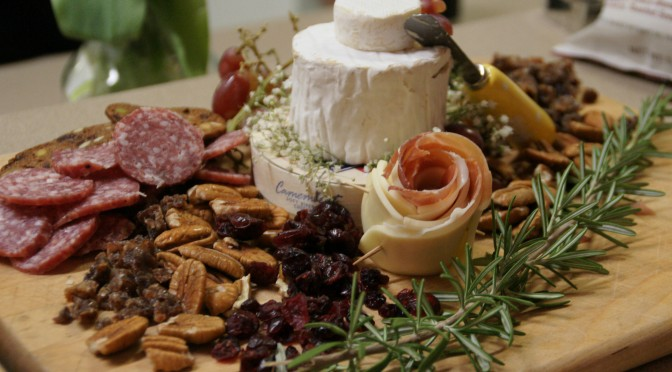 Antipasto Platter Features a Tower of Brie