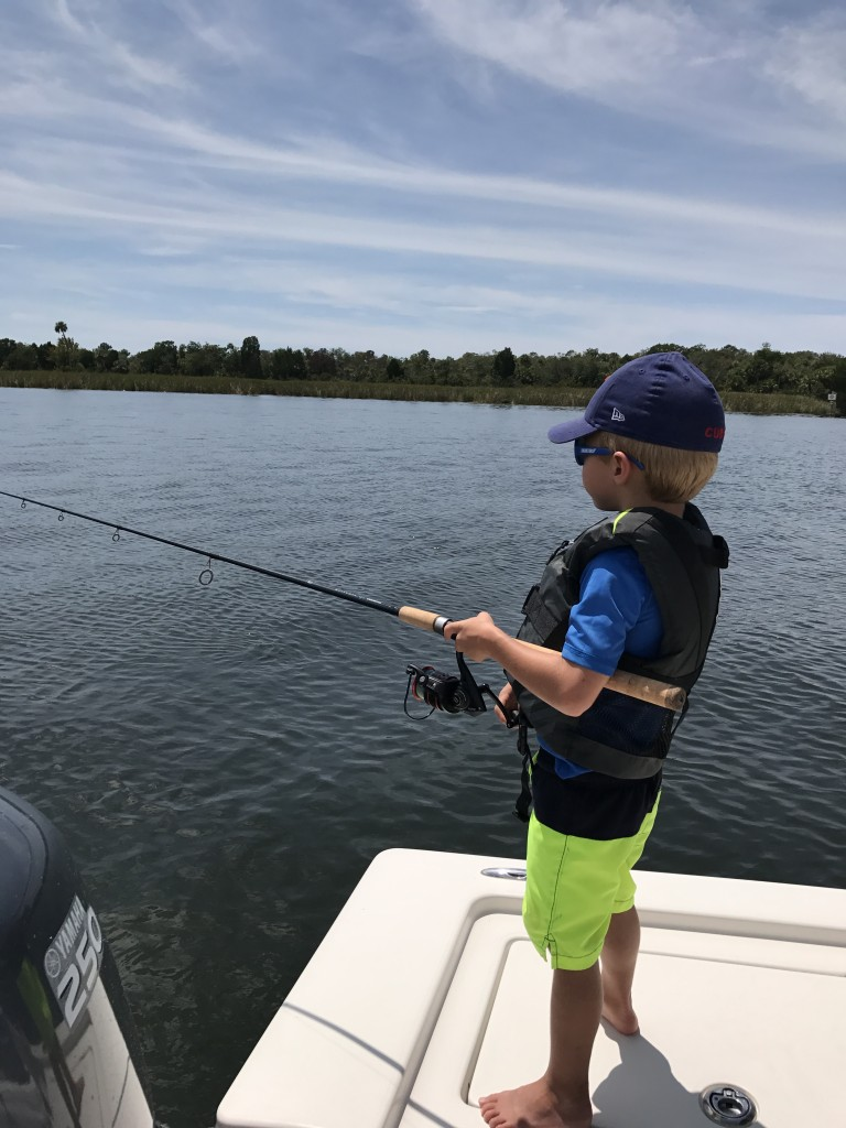 Carson takes his fishing serious. A sting ray was the first thing he ever caught and it caught everyone in the boat by surprise.