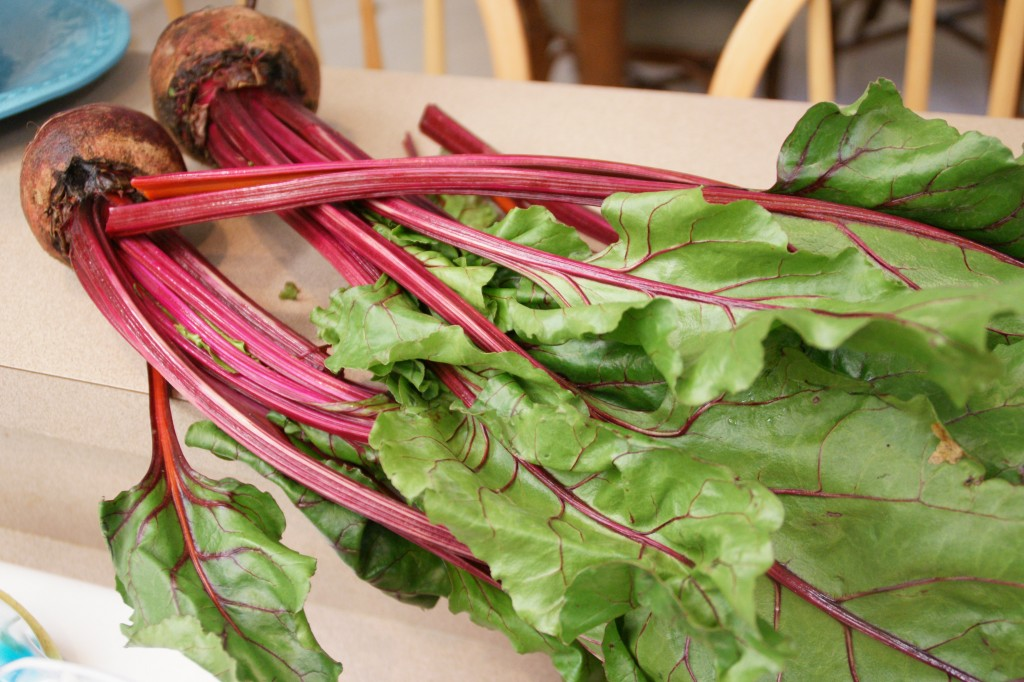 Fresh Beets Bleed Red-with lots of nutrients and antioxidants.